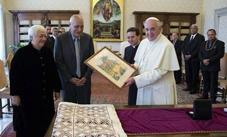 Tui Atua and Pope FRancis